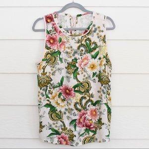 LOFT Floral Print Tie Back Tank